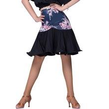 Knee-high sexy Latin Dance Skirt for Woman/female/girl/lady, Tango Rumba Ballroom costume Practice dress performance wear M2030