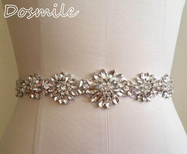 Unique Bridal Belts white/ivory Wedding Belt Beaded Crystals and Rhinestones on Satin Ribbon Belt Wedding Sashes Waistbands