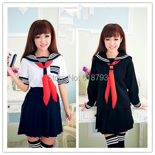 Hot sexy Japanese Girl maid costumes sailor uniforms school student dress cute female cloth