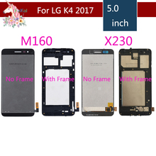 For LG K4 2017 LCD M160 M150 lcd complete K4 2017 X230 X230DSF original LCD Display Touch Screen Digitizer Assembly with Frame original lcd for lg k8 k350n k350e k350ds lcd display complete touch screen digitizer assembly black white free shipping tools