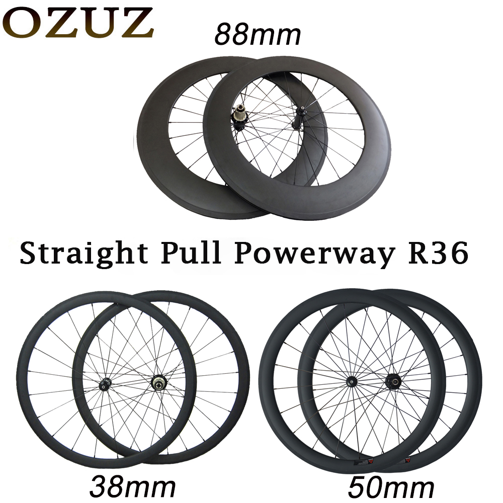 V brake R36 HUB 38mm 50mm 88mm carbon wheels road 700C clincher tubular 23mm width bike
