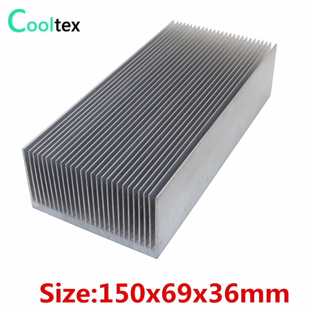 150x69x36mm Aluminum HeatSink heat sink radiator for Electronic Power Amplifier Chip VGA RAM LED Cooler cooling 120x69x27mm aluminum radiator high power heatsink for electronic chip cpu gpu vga ram led ic heat sink cooler cooling