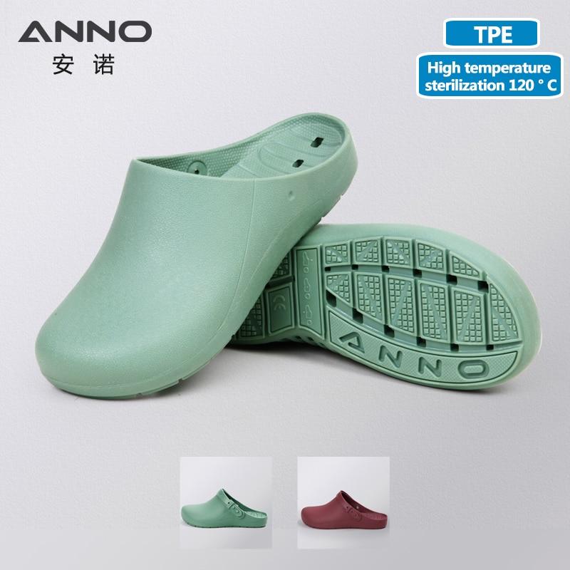 ANNO看護シューズ病院の医師フットウェア女性用ゴム医療シューズ男性作業詰まり手術靴スリッパ