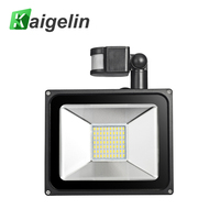 2Pcs Sensor Floodlight 50W 3500LM AC 85 265V Led Flood Light Induction Lamp Spotlight IP65 Waterproof