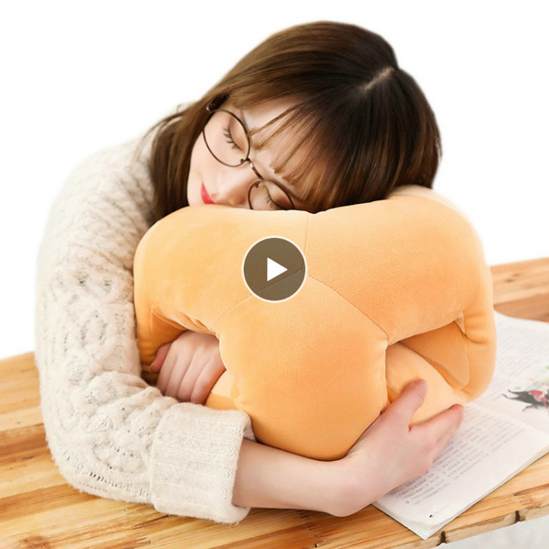 Cube Nap Sleeping Pillow For Office Bread Neck Pillow With Hand Warmer Kid School Vote Sleeping On Table Creative Gift For Boy