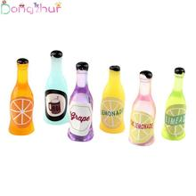 1:12 Mini Resin Fruit Soda Bottle Simulation Furniture Model Toys For Doll House Decoration Dollhouse Miniature Accessories