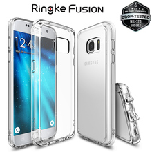 Original Ringke Fusion for Samsung Galaxy S7 Case Military Grade Drop Protection Crystal Slim Silicone Cover Cases for S7 Edge