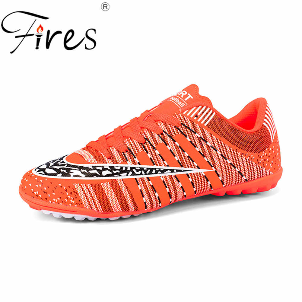 37ba780a3 Fires Man's Turf Soccer Shoes Indoor Plus Size 45 Cleats Kids Original  Superfly futsal Football Shoes