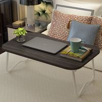 FULCLOUD Bed Folding Table Lazy Computer Table Domestic Lapdesks Solid Wood Desk Simple Student Desk