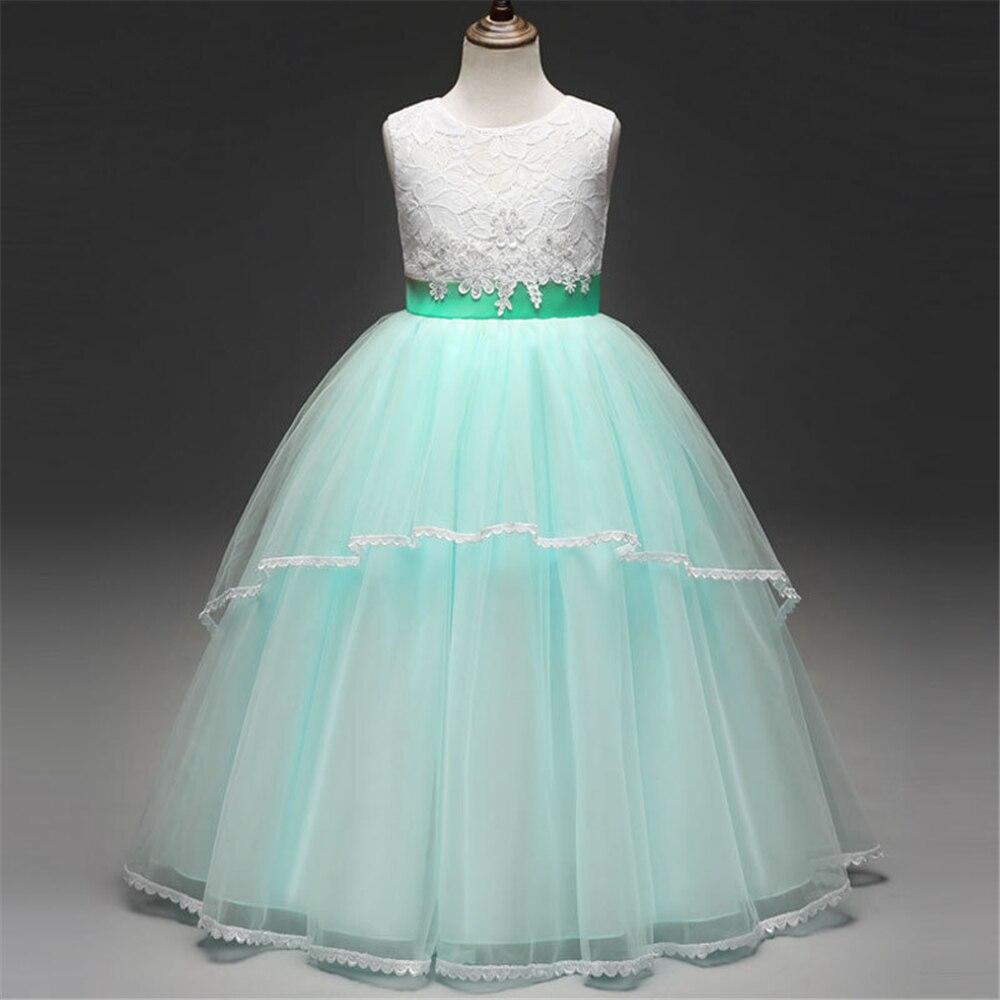 Flower Wedding Party Dresses for Big Girls Bridesmaid Vestido Kids ...
