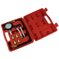 Petrol Engine Compression Tester Test Gauge Kit Car Motorcycle Garage Tool