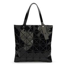 WSYUTUO Handbag Female Folded Ladies Geometric Plaid Bag Fashion Casual Tote Women Handbag Mochila Shoulder Bag