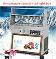 Машина для приготовления жареного йогурта  один горшок  двойной горшок  машина для жареного молока  машина для приготовления снежного сыра  ...