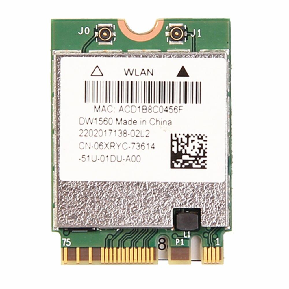 Dell DW1560 Broadcom BCM94352Z M.2//NGFF 802.11AC 867Mbps Bluetooth 4.0 WIFI Card