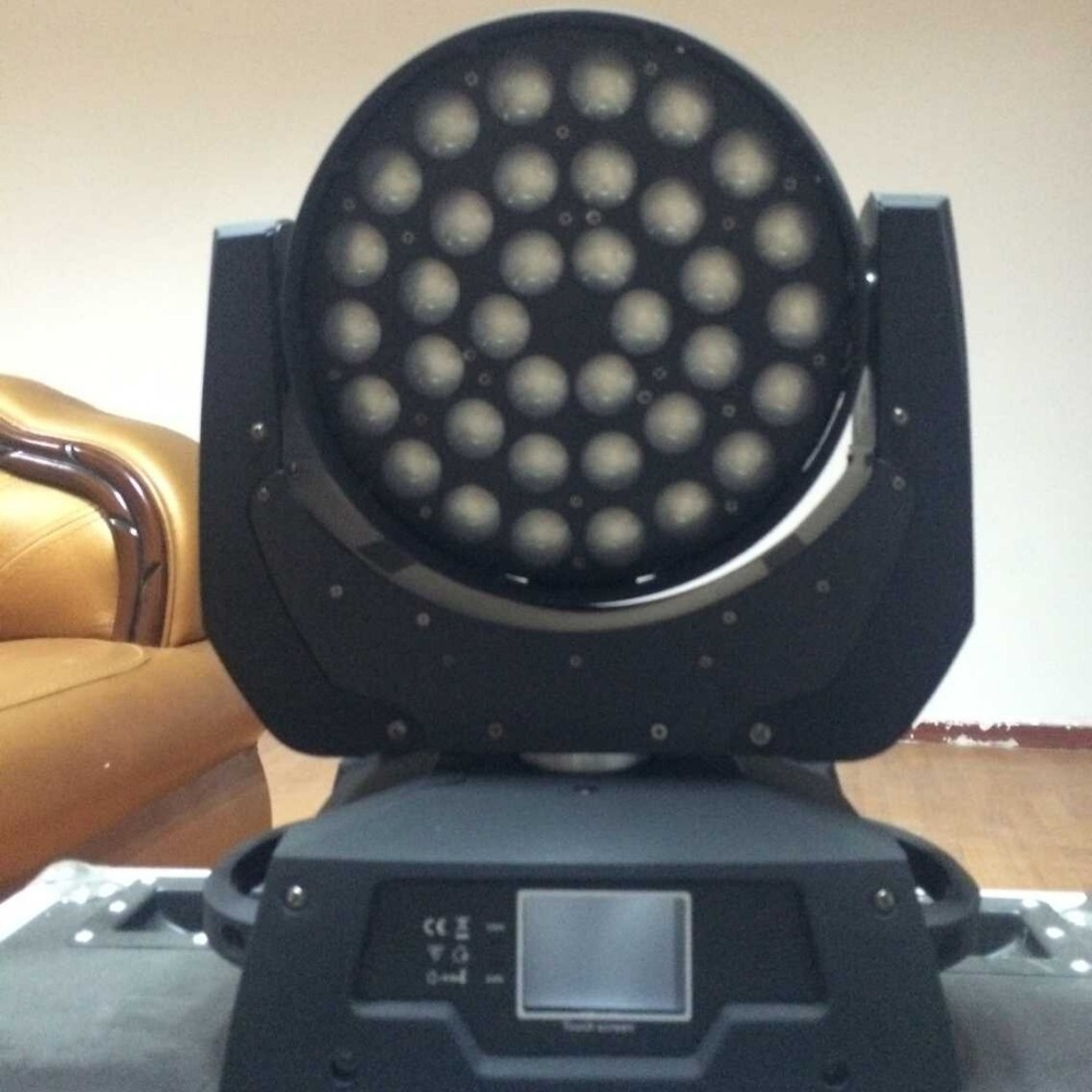 6pcs/lot high power led wash light 36*18W 6 in 1 RGBWY+UV led moving head zoom light with flight case