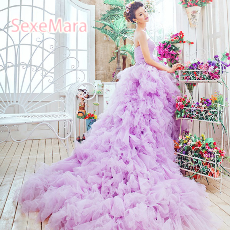 Lujoso Vestidos De Novia Secy Ideas Ornamento Elaboración Festooning ...