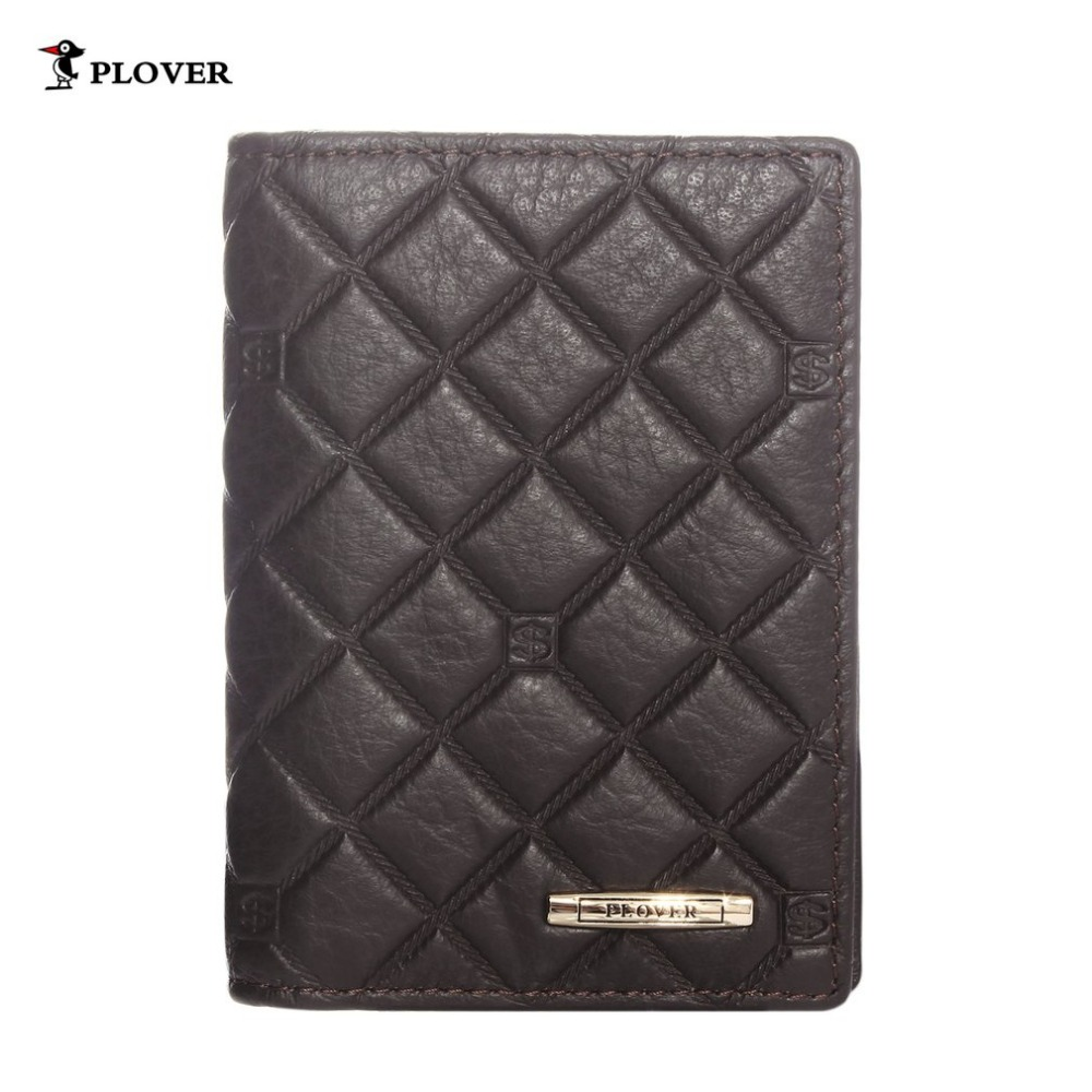 Plover Simple Design Men Wallet Male Leather Card Holder Classy Brown Color Cowhide Cover Coin Purse Worldwide Sale GD5239-MZ