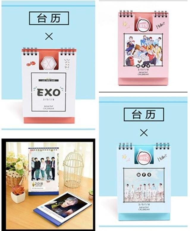 Office & School Supplies Calendars, Planners & Cards 2018 Year Kpop Korean Star Exo Official Calendar Desk With The Desk Calendar Around The Stars Latest Technology