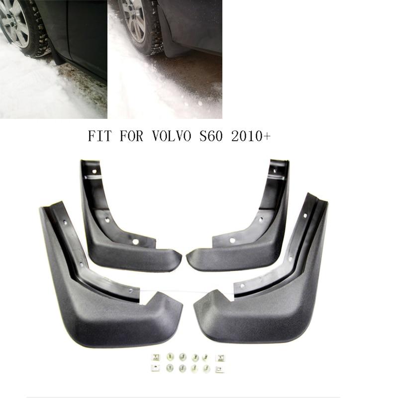 Car Fender Mud Flaps fit for VOLVO S60 2010 2012 2013 2014 2015 2016 Splash Guards Mudguards Mudflaps Accessories
