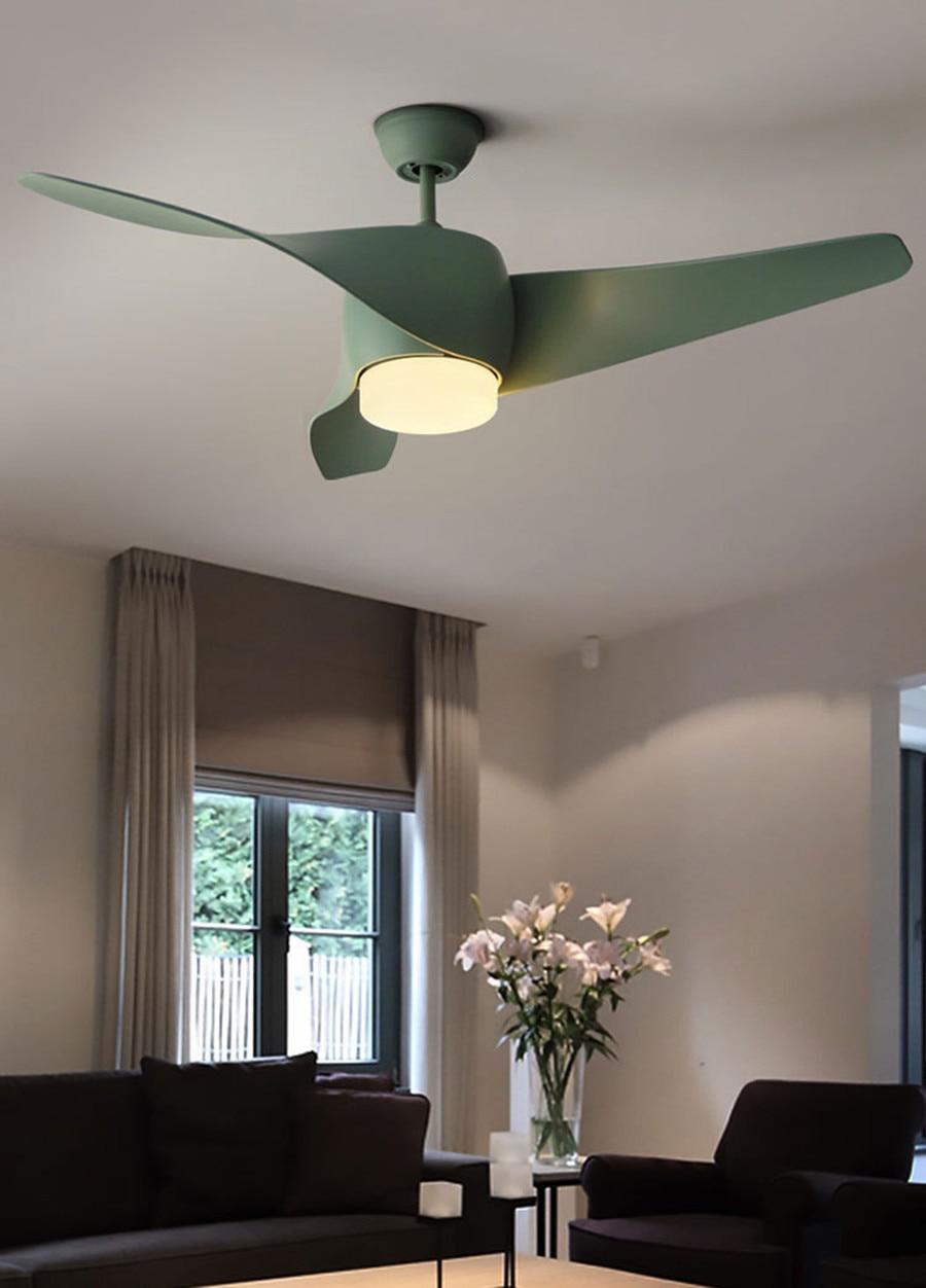 nordic modern fan lamp minimalist ceiling fans light for living