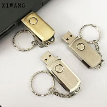 new USB Flash Drive pen drive creative usb 2.0 4GB 8GB 16GB pendrive 32GB 64GB rotating metal stick key memory free logo