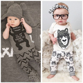 Summer New Brand Fashion Baby Boys And Girls Little Monsters Infant Child Suit Cartoon Cotton Sport Suit