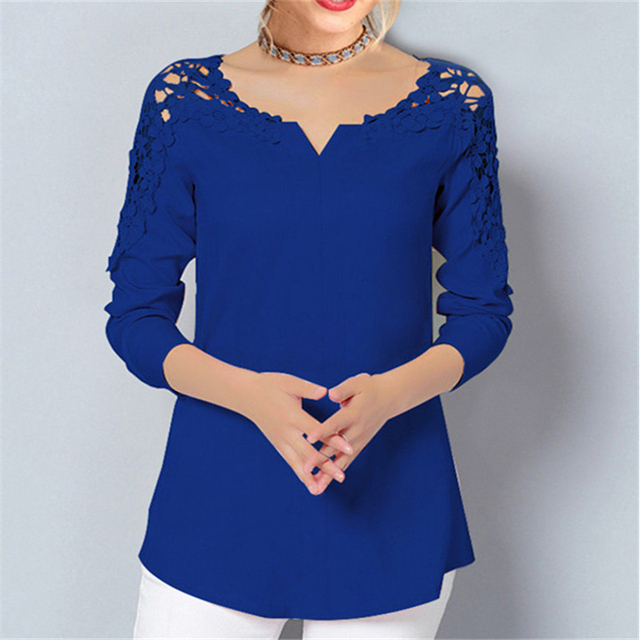 cb1ad0f2ddd6dc IYAEGE 2018 Womens Tops And Blouses Casual Long Sleeve Chiffon Blouse  Office Ladies Shirts Tunic Tops Blusas Plus Size 5XL