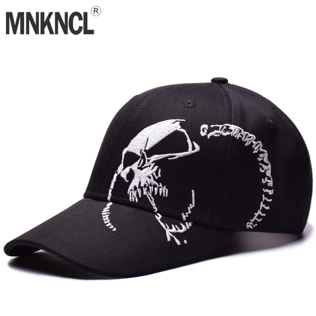 83e16722e11 MNKNCL High Quality Baseball Cap Unisex Sports Leisure Hats Skull  Embroidery Hip Hop Cap For Men and Women Snapback Caps
