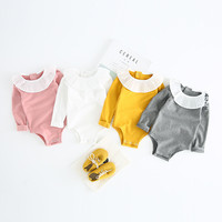 Baby Girl Rompers Autumn Girls Clothing Sets Roupas Bebes Ruffles Collar Newborn Baby Clothes Cute Jumpsuits