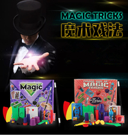 Free Shipping Beginner Magic Trick Set Kit Magie Prop Gimick Card Children Magic Gift Puzzle Toy