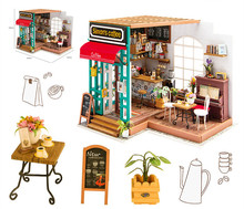 New Doll House Miniature handmade DIY Dollhouse With Furnitures Wooden Toys Children Birthday xmas christmas Gift DG109