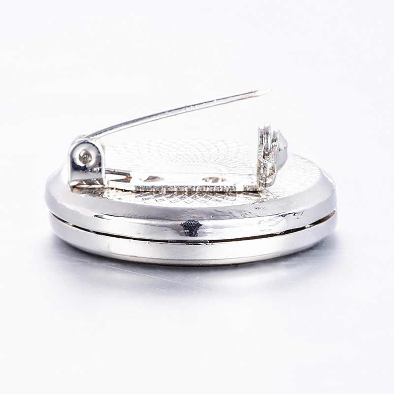 Rozpylacz zapachów gwiaździste niebo ze stali nierdzewnej broszka perfumy olejek dyspergator moda otwarty medal broszka torba pin P19