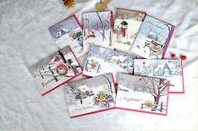 20sets Creative Bronzing Paper Merry Christmas Cards Xmas Blessing Card for New Year Random Pattern