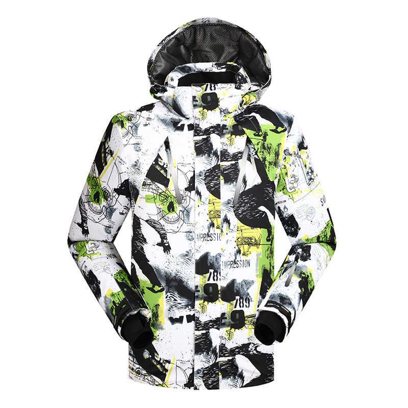 جديد الرجال سترة تزلج الشتاء على الجليد دعوى الرجال في الهواء الطلق الدافئة للماء صامد للريح تنفس الملابس