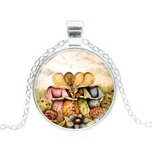 2018 New Hot Fashion Three Sisters Best Friends Necklace Trendy Jewelry Art Best Friend Glass Dome Friendship Gifts Necklace(China)