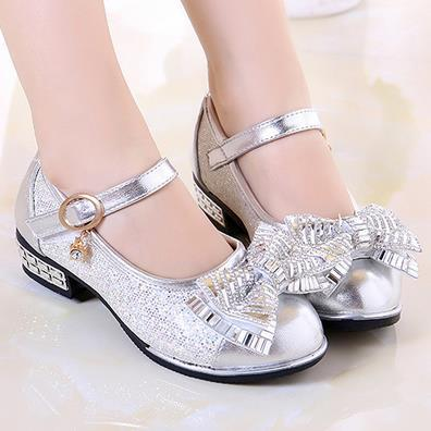 Sapatas dos miúdos meninas Princesa sapatos de couro para a Moda Meninas bonito Flor de Diamante Design de calçados infantis meninas primavera Outono 515d