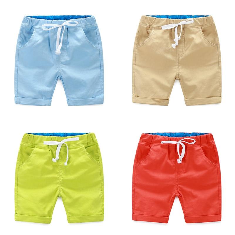 Boys casual shorts 2018 new summer dresses Korean children's waist cotton and linen fashion sports pants tide