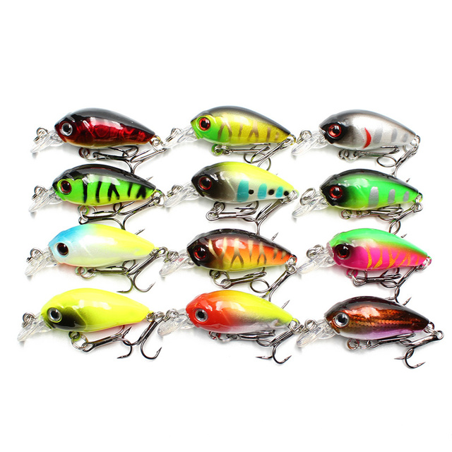 Amlucas 45mm 4.3g Topwater Minnow Fishing Lures Artificial Hard Bait Swim Fish Wobblers Floating Crankbait Carp Fishing WW1108