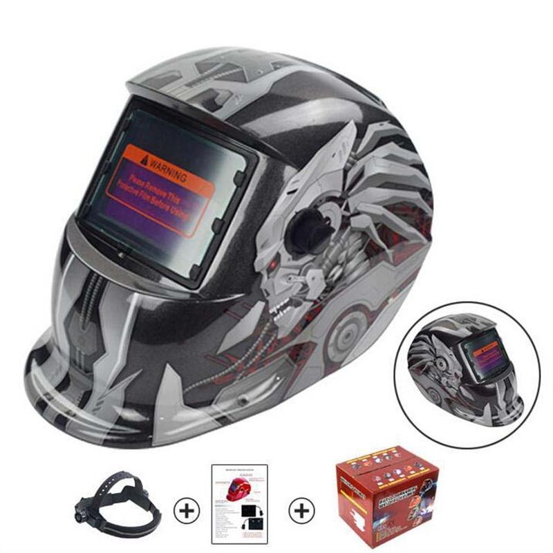 Skull Solar Auto Darkening Helmet MIG MMA Electric Welding Mask Welder Cap Auto Darkening Welder Welding Helmet Weld Welder Mask