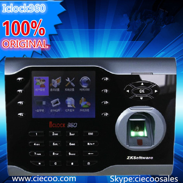 ZK Portuguese 3.5-inch screen Zk Iclock360 8000 fingerprint capacity  fingerprint time attendance free software and SDK