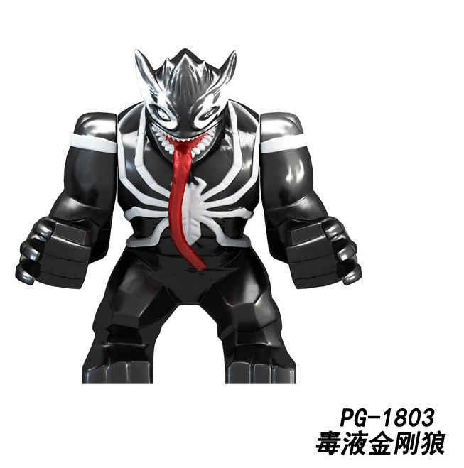 20 шт. PG1803 Marvel Супер Герои большой размер Халк клейлицо Juggernaut анти-Веном Росомаха танос строительные блоки детские игрушки