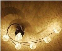 Современный минималистский 6 свет светодио дный потолочный светильник небольшой гостиной лампа семьи теплые спальня исследование Рестора