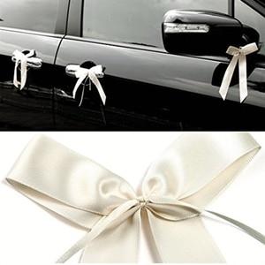 50pcs/pack Delicate Wedding Pew End decoration Bowknots Ribbon Bows Party Cars Chairs Decoration Bowknots(China)