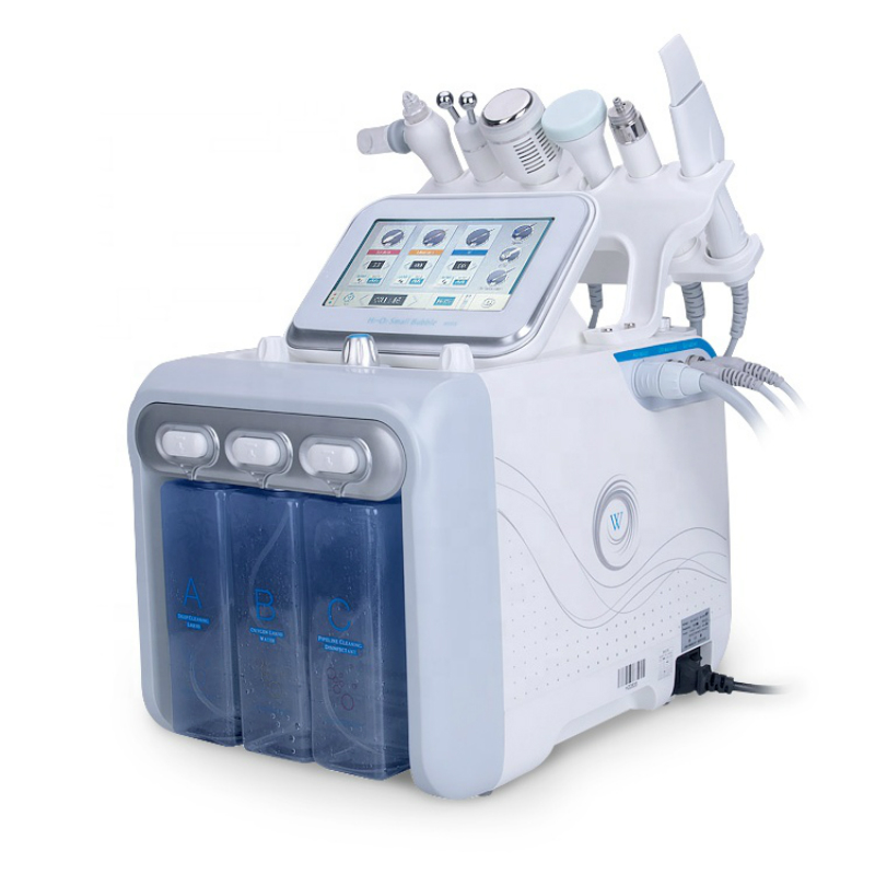 2019 New Skin Machine 6 In1 Diamond Dermabrasion Hydro Water High Frequency Ultrasonic BIO MICRO CURRENT Machine