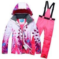 10K Leader sales winter Jackets women ski suit set Jackets and Pants outdoor single ski set windproof Therma ski snowboardl