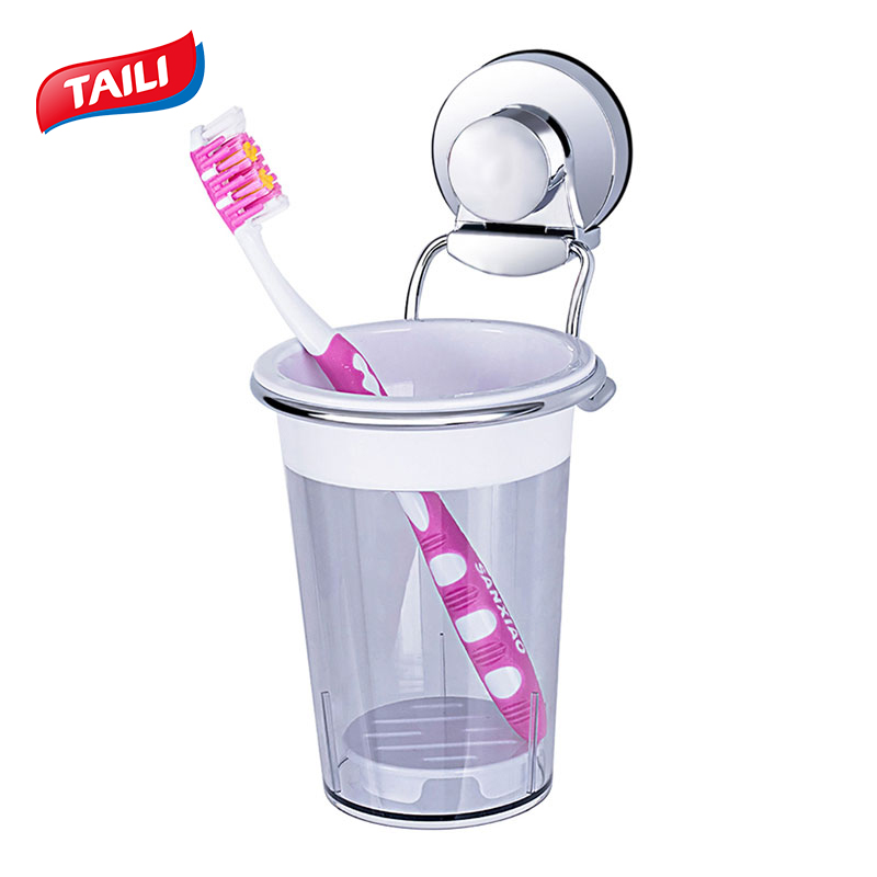 Chrome Toothbrush holder Suction Hook Bathroom Accessories Product image