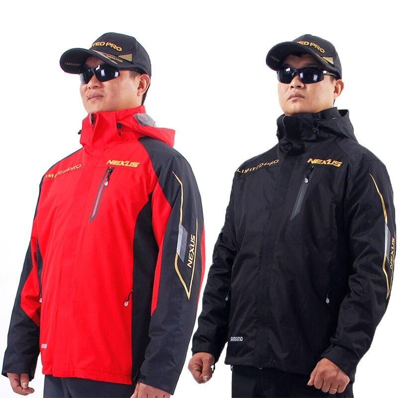 Shimano Two Piece Set Sports Winter Outdoor Jacket Waterproof Thicken Keep Warm Jacket Coldproof Man Fishing Jackets