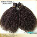Kinky rizado brasileño de la virgen del pelo clip en la extensión marrón oscuro color 2 del enrollamiento rizado clip en extensiones de cabello cabello humano 8 unids/set