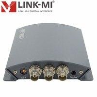 LINK-MI LM-PYS01 Broadcast YPbPr to SDI BNC Converter With DIP Switch 1080p YPbPr signal input and 3G/HD/SD SDI signal output