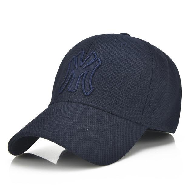 b0115af61afd4 2018 New NY LETTER Cap Black Adult Unisex Casual Baseball Caps Fashion Snapback  Hats For Men